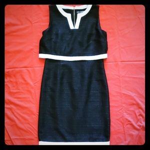 KARL LAGERFELD boucle/tweed dress